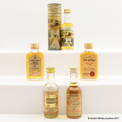 Assorted Minis 5 x 5cl Including Dunglass 5 Year Old 5cl