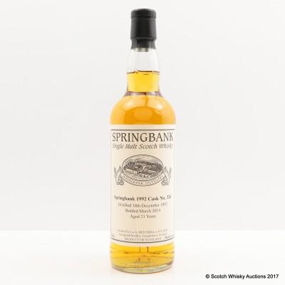 Springbank 1992 21 Year Old Single Cask #326