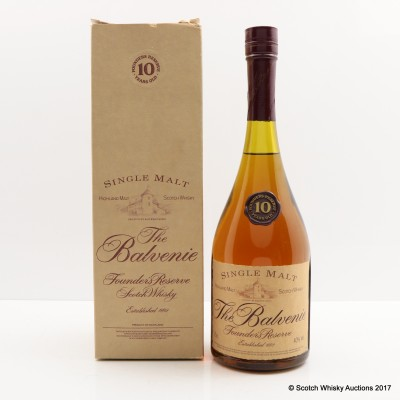 Balvenie 10 Year Old Founder's Reserve Cognac Bottle 75cl