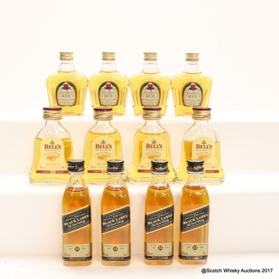 Assorted Minis 12 x 5cl Including Crown Royal Northern Harvest Rye 5cl