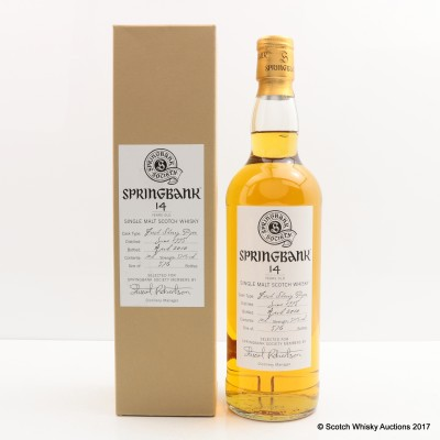Springbank 1995 14 Year Old Society Bottling