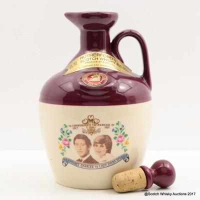 Rutherford's Ceramics Royal Marriage Flagon