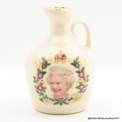 Rutherford's Ceramics Mini Queen Elizabeth Diamond Jubilee 5cl