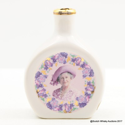 Rutherford's Ceramic Mini Commemorating The Life Of The Queen Mother 5cl
