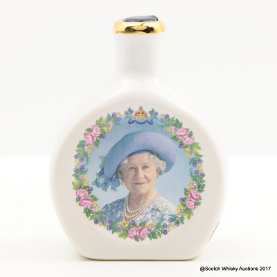 Rutherford's Ceramics Mini 100th Birthday Of Queen Elizabeth 5cl