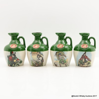 Rutherford's Ceramics Montrose Decanters x 4