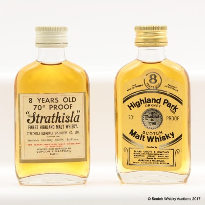 Highland Park 8 Year Old Gordon & Macphail Mini & Strathisla 8 Year Old Gordon & Macphail Mini