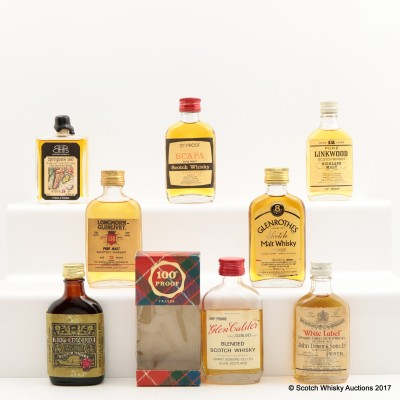 Assorted Minis 8 x 5cl Including Linkwood 12 Year Old Mini