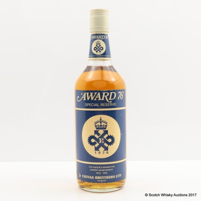 Chivas Brothers Queen's Award For Export Achievement 1976 75cl