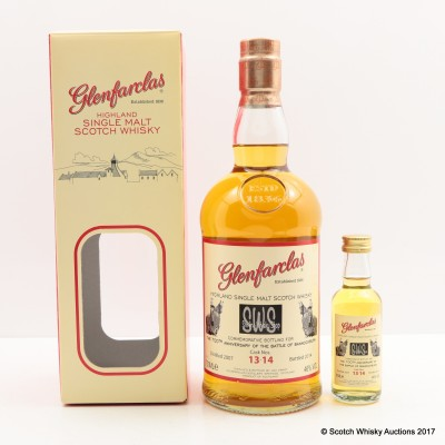 Glenfarclas Commemorative Bottling For The 700th Anniversary Of The Battle Of Bannockburn & Mini 5cl