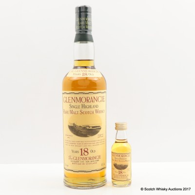 Glenmorangie 18 Year Old Old Style with Matching Mini 5cl