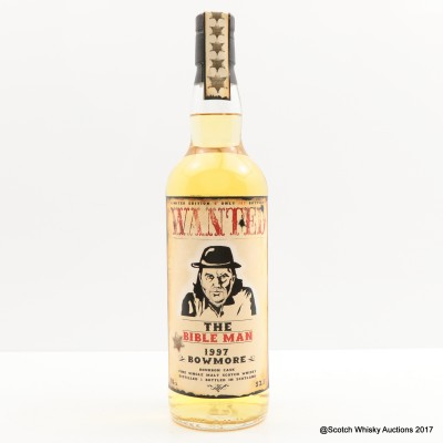Bowmore 1997 Wanted The Bible Man