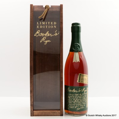 Booker's Rye 13 Year Old Big Time Batch 2016 Release 75cl