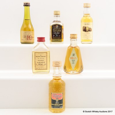 Assorted Minis 6 x 5cl Including Tormore-Glenlivet 10 Year Old 5cl