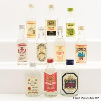 Assorted Minis 10 x 5cl Including Borzoi Vodka 5cl