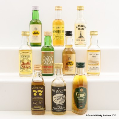 Assorted Minis 10 x 5cl Including Pitlochry 10 Year Old 5cl