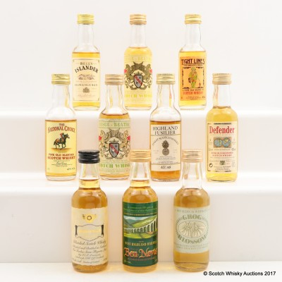 Assorted Minis 10 x 5cl Including Ben Nevis 5cl