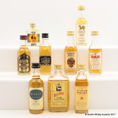 Assorted Minis 9 x 5cl Including White Horse