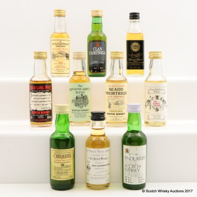 Assorted Minis 10 x 5cl Including Bailie Nicol Jarvie