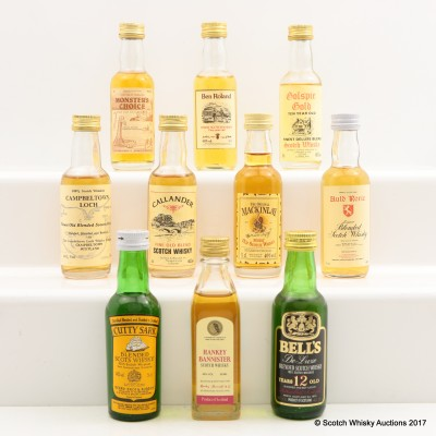 Assorted Minis 10 x 5cl Including Hankey Bannister