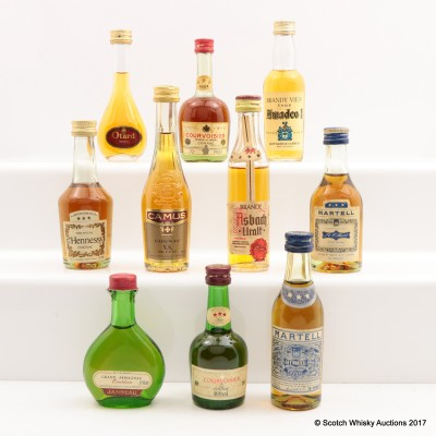Assorted Minis 10 x 5cl Including Hennessy VS Cognac