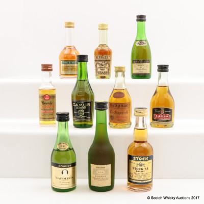 Assorted Minis 10 x 5cl Including Remy Martin VS Cognac