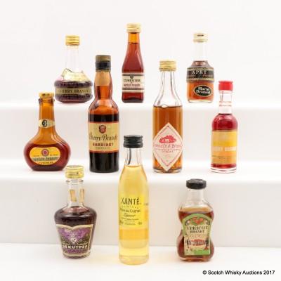 Assorted Minis 10 x 5cl Including Cusenier Cherry Brandy