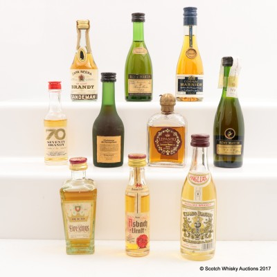 Assorted Minis 10 x 5cl Including Remy Martin