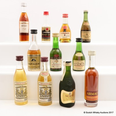 Assorted Minis 11 x 5cl Including Chateau De Castex 14 Year Old Armagnac