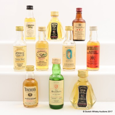 Assorted Minis 10 x 5cl Including Something Special 12 Year Old 5cl