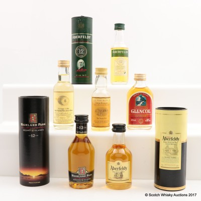 Assorted Minis 6 x 5cl Including Glendullan 1984 11 Year Old 5cl