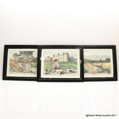 Glenfiddich Framed Art Work x 3