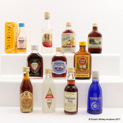 Assorted Minis 11 x 5cl Including Watson's Trawler Rum 5cl