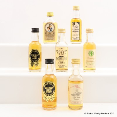 Assorted Minis 7 x 5cl Including Royal Wedding Commemorative Mini 5cl