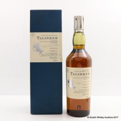 Talisker 25 Year Old 2007 Release