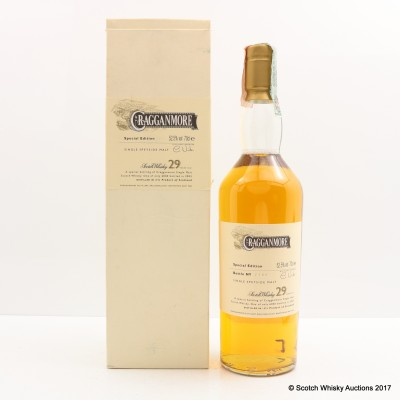 Cragganmore 1973 29 Year Old 2003 Release