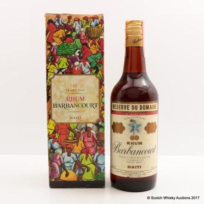 Rhum Barbancourt 15 Year Old Haitian Rum 75cl