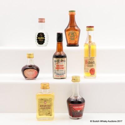 Assorted Minis x 7 Including De Kuyper Cherry Brandy 3cl