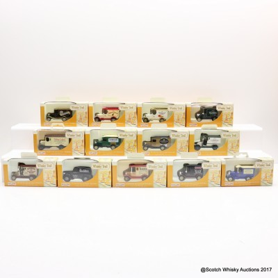 Assorted Miniature Whisky Trail Vans x 13 With Display Rack