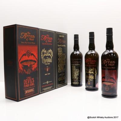 Arran Devil's Punch Bowl Chapters I, II & III 3 x 70cl