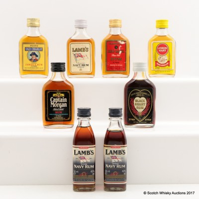 Assorted Minis 8 x 5cl Including Lambs Navy Rum 5cl