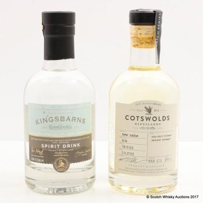 Kingsbarns New Make Spirit 20cl & Cotswalds New Make Spirit 20cl