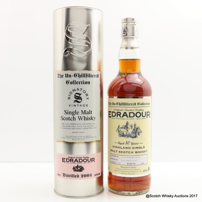 Edradour 2004 10 Year Old Signatory Un-Chillfiltered Collection