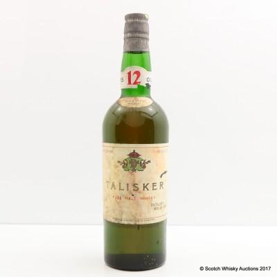 Talisker 12 Year Old Pure Malt 1 Pint & 6 Fl Ozs