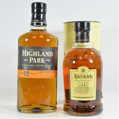 Aberfeldy 12 Year Old & Highland Park 12 Year Old
