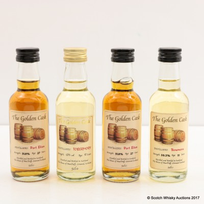 Assorted Minis 4 x 5cl Including Port Ellen 27 Year Old Golden Cask