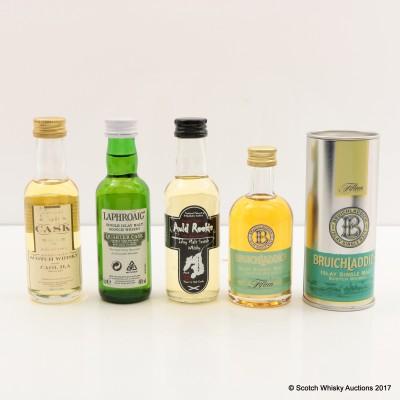 Assorted Minis 4 x 5cl Including Caol Ila 1981 Gordon & Macphail