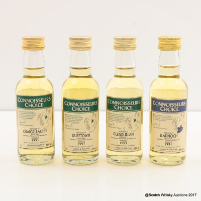 Assorted Minis 4 x 5cl Including Bladnoch 1991 Connoisseurs Choice