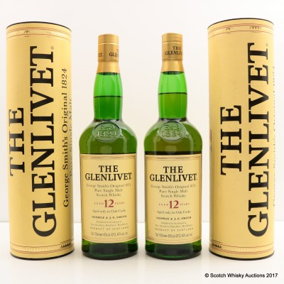 Glenlivet 12 Year Old 2 x 70cl