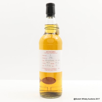 Springbank 2006 10 Year Old Duty Paid Sample